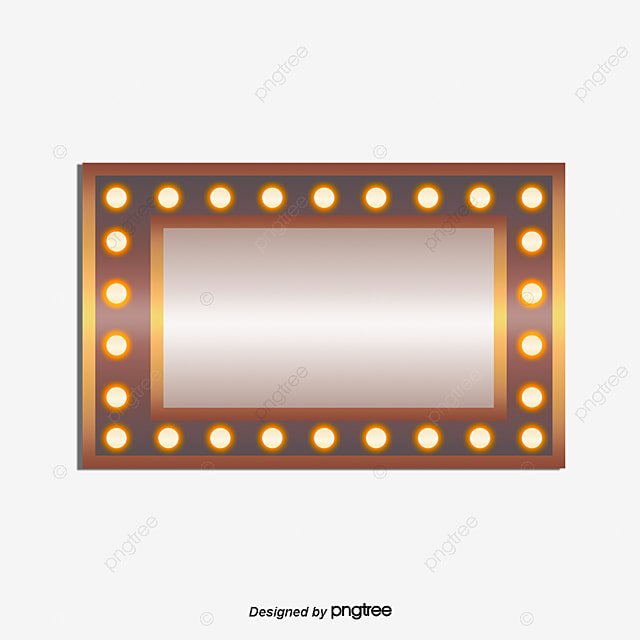 Vector Square Light Board, Hd, Vector, Neon Cards PNG And