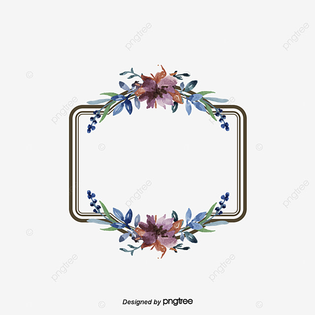 Vintage Floral Border Flowers Frame Continental Png And