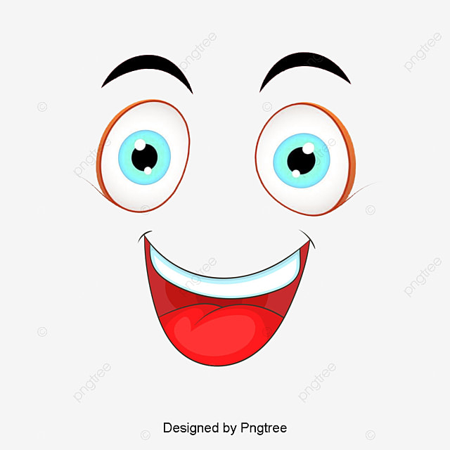 Happy Face Clipart Features Expression PNG Image And