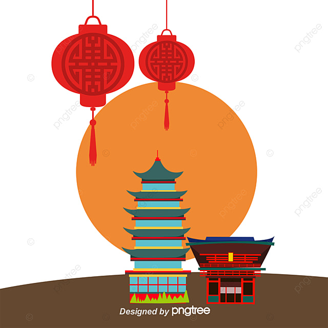 Japanese Architecture And Lanterns Culture Traditional Japan Free PNG Vector
