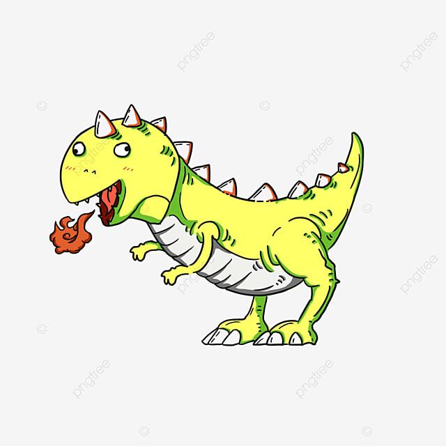 desenho de dinossauro os dinossauros t rex pintados à mão png imagem
