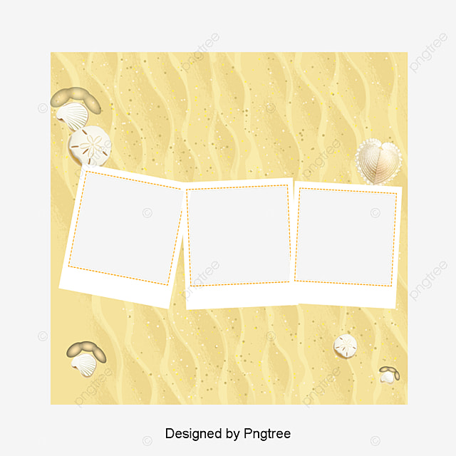 Summer Beach Frame Diagram, Great, Sandy Beach, Frame PNG and PSD ...
