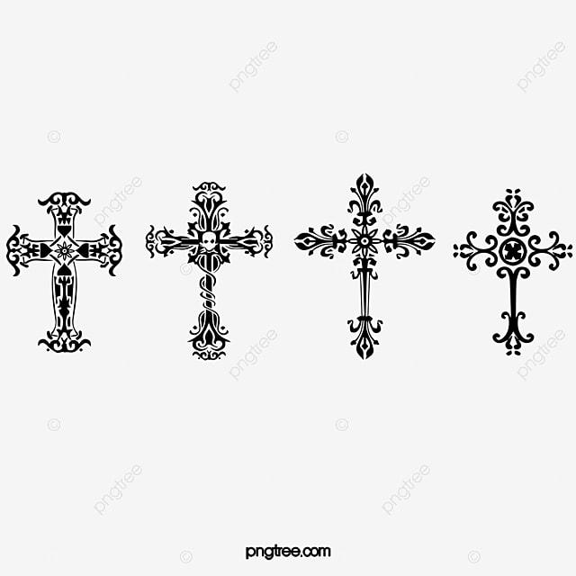 Cruz Cruz Bien Blanco Y Negro Imagen PNG Para Descarga