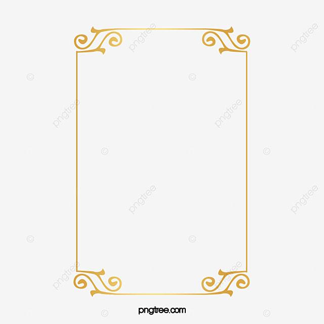 Elementos De Contorno Dourado Amarelo Ouro Padr 227 O