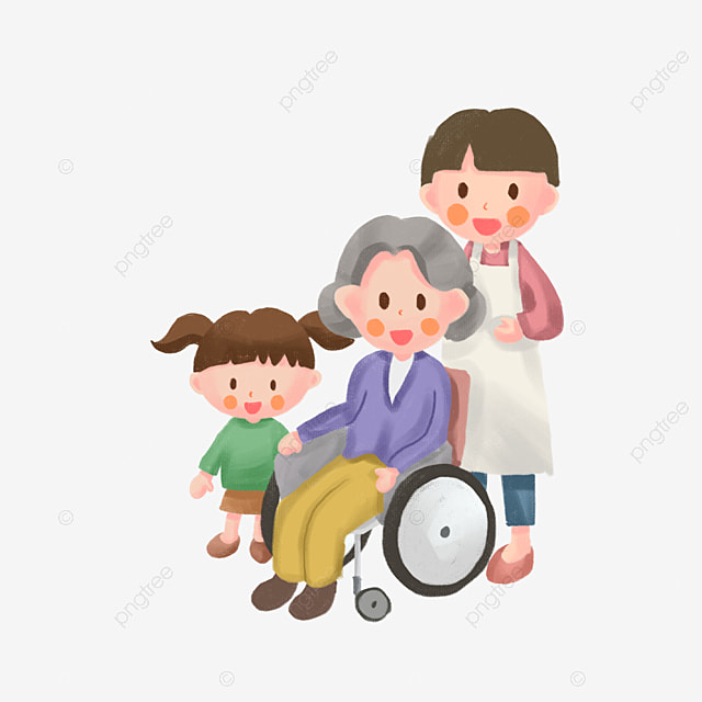 un enfant assis sur le fauteuil roulant fauteuil roulant enfants dessin image png pour le