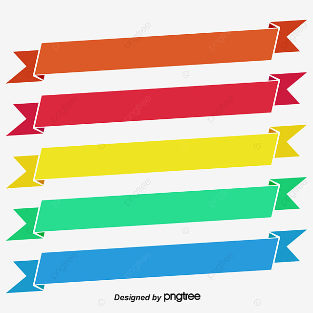 Decorative Ribbon Banners Object Shape Display Png And