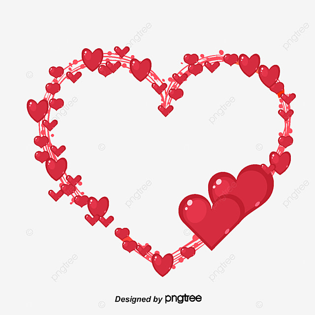 Heart-shaped border, Heart-shaped, Frame, Love PNG and Vector for ...