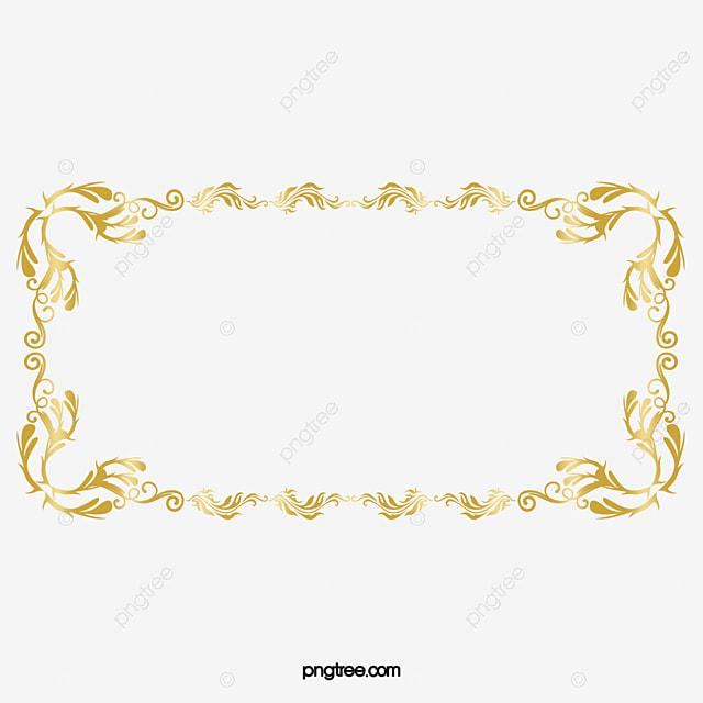 Bordas Png Dourada