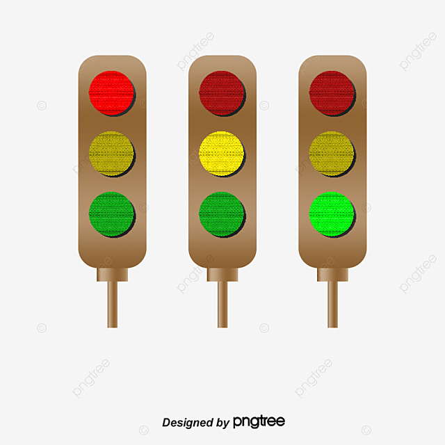 Three Rows Of Traffic Lights, Red Light, Yellow, Green PNG Image And Clipart