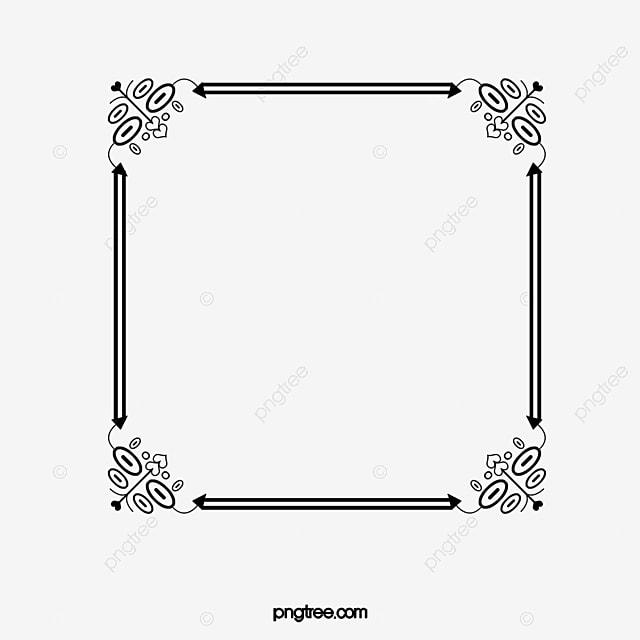 Cadre Bordure motif de bordure de cadre noir noir motif cadre photo image png pour