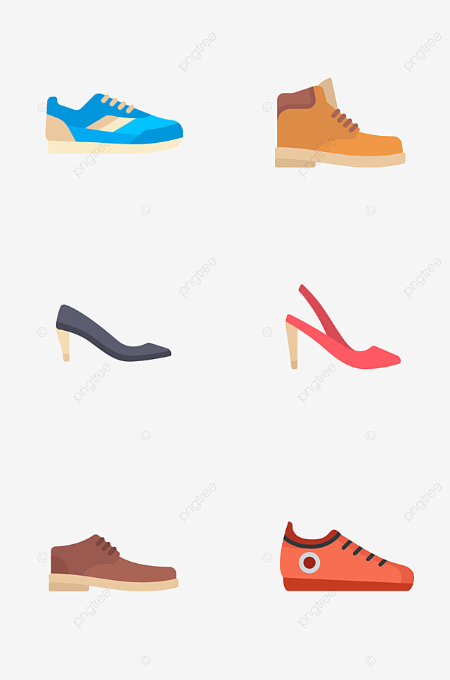 A Variety Of High Heeled Shoes And Bags Collection Shoes Clipart
