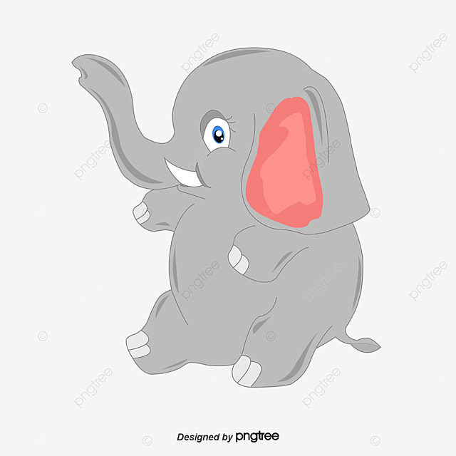 Cute baby elephant clipart
