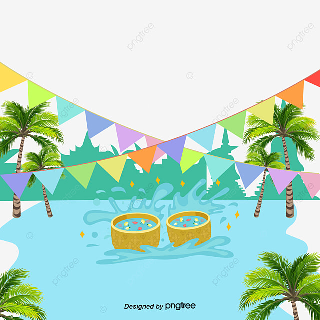 Free Download Png And Vector: Vector Songkran, Songkran, Character, Elephant PNG And