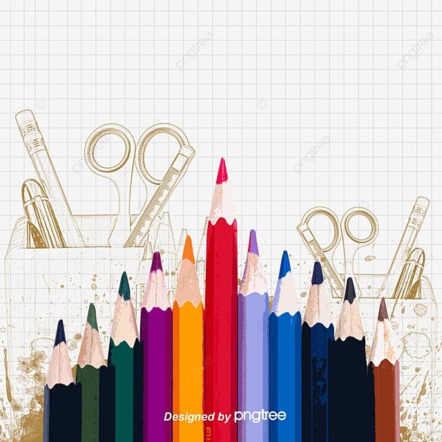 Colored pencils colored pencils mathematics graffiti colored vector png and vector