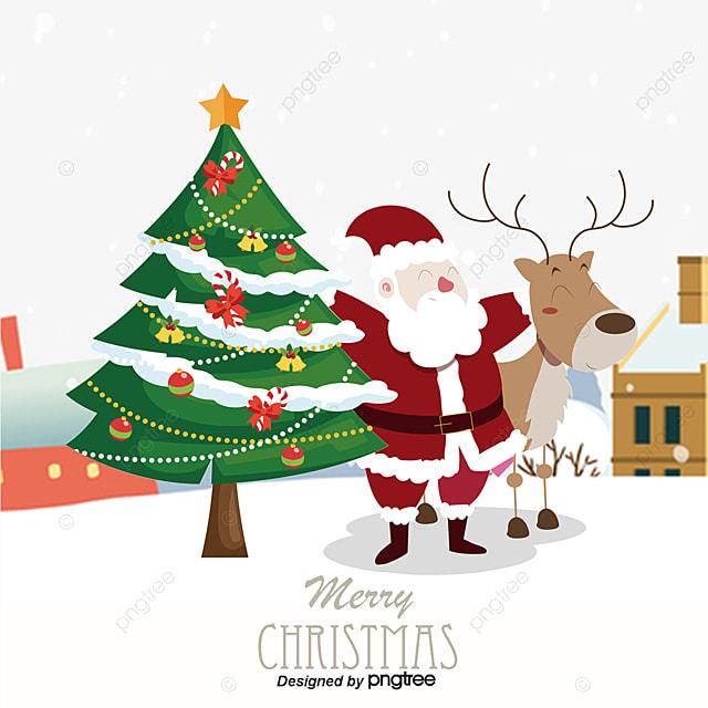 Arbol de navidad y santa claus imagenes de navidad - Imagenes arbol de navidad ...