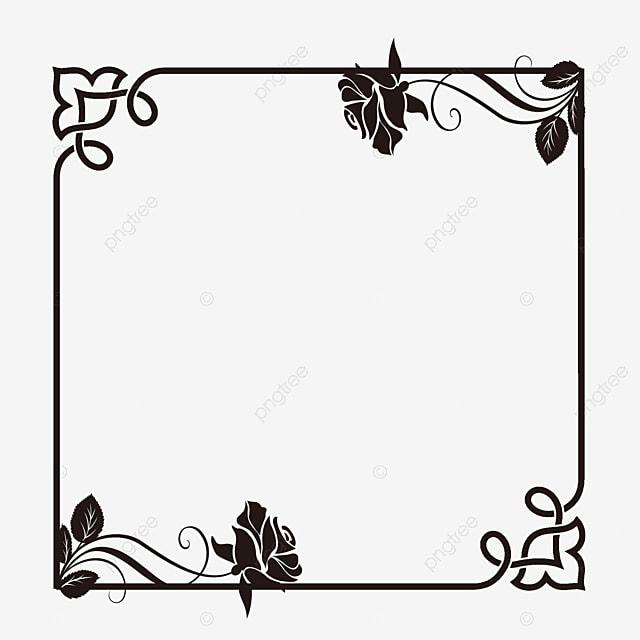 black rose border rose clipart black rose frame png