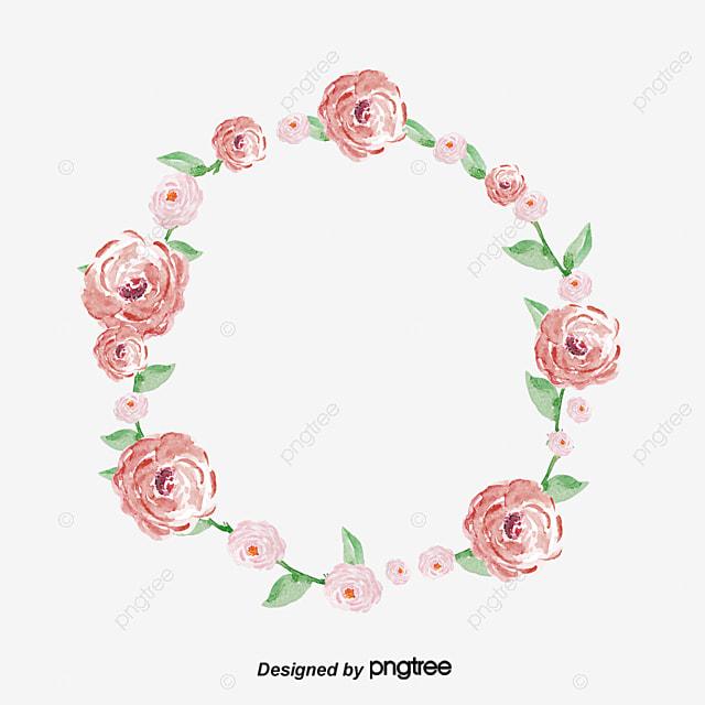 cercle de fleurs rose circulaire les fleurs fichier png et