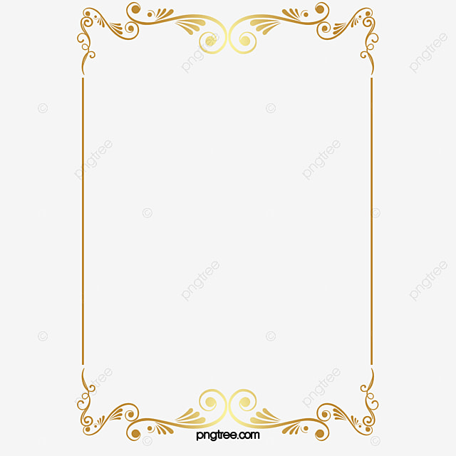 Vector Gold Pattern Frame, Vector, Golden, Pattern PNG And