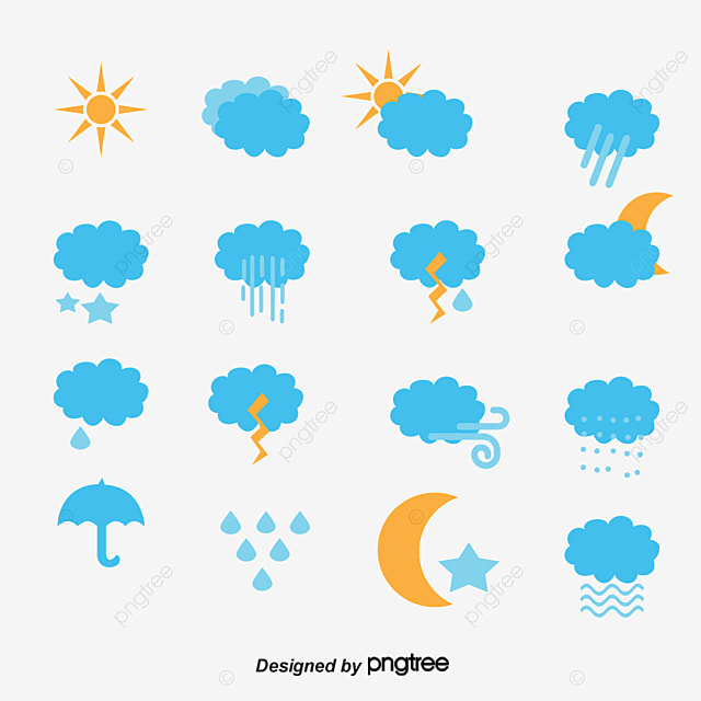 Weather Symbols Weather Icon Sunny Day Cloudy Day Png And Vector