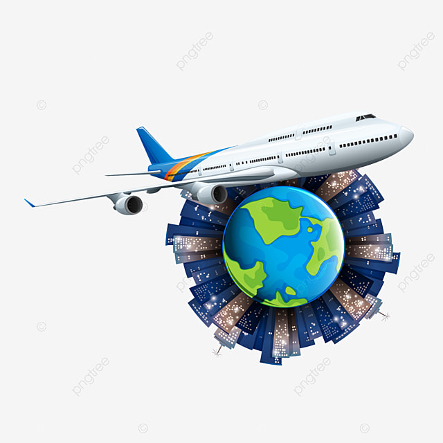 Airplane Tours Decorative Material, Airplane Clipart