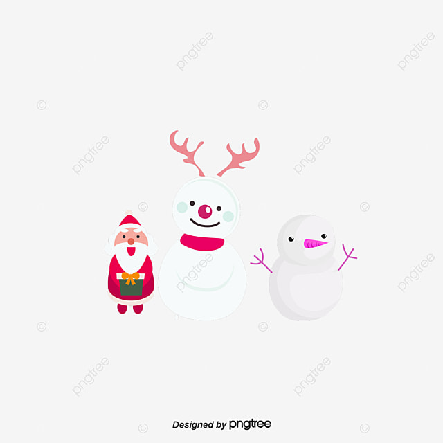 Ski santa claus and children vector