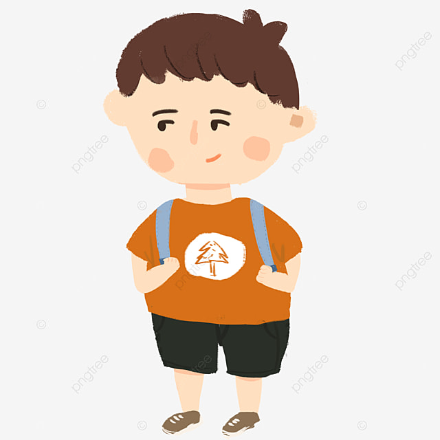 boy carrying a bag, Bag Clipart, Boy Clipart, School Bag PNG Image and