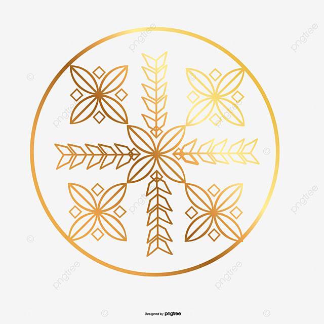 Tres de oro de bolas de navidad copos de nieve de oro - Bolas de navidad doradas ...