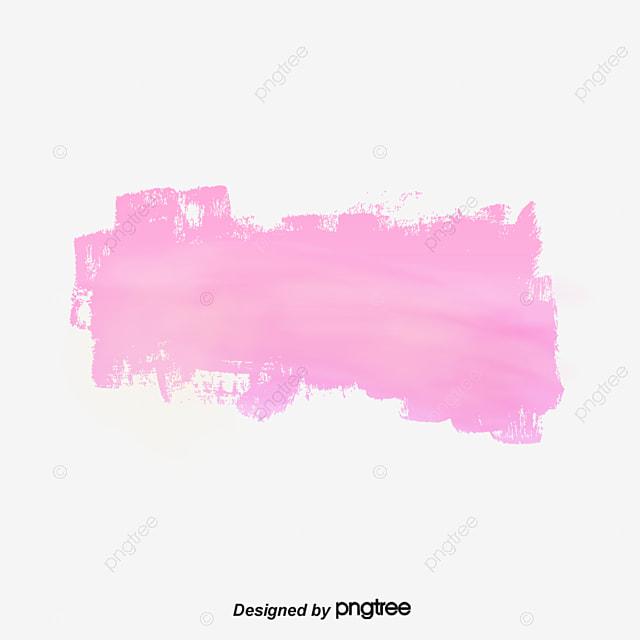Mancha Rosa Acuarela Splash Efecto De Ensueño PNG Y