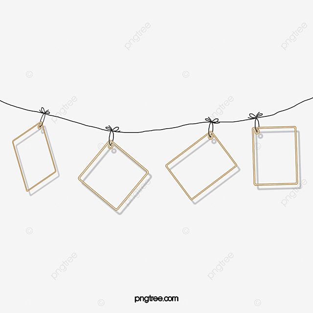 Hanging paper paper photo frame rope png and psd file for Picture frame hanging designs