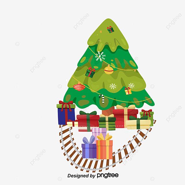 Rbol de navidad y regalos navidad feliz festival - Arbol de navidad con regalos ...