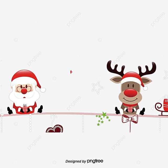 Santa And Elk, Christmas, Christmas Eve, Merry Christmas PNG and PSD ...