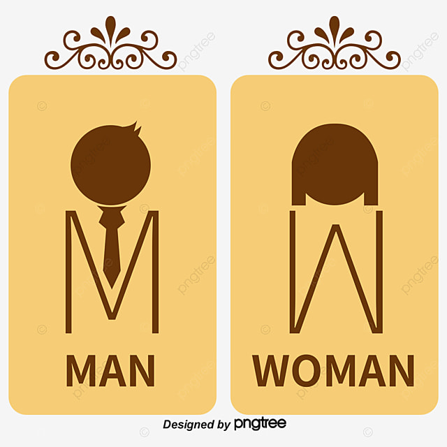 Image of: Men S Bathroom Sign Vector Intended Toilet Sign Simple Men And Women Wc Png And Vector Toilet Sign For Free Download