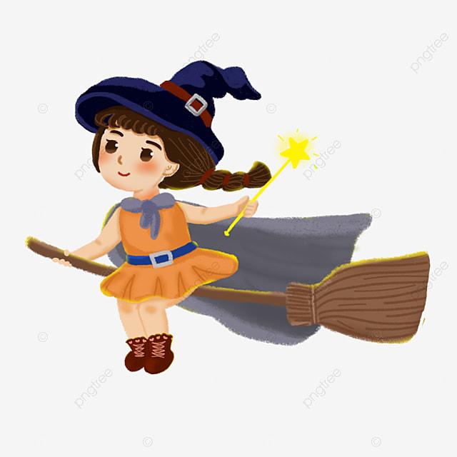 desenhos de bruxas cartoon a bruxa a vassoura png imagem para