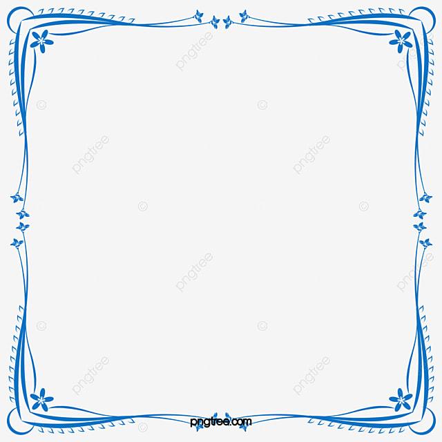 Vector Frame Quadrado Azul Vector Azul Moldura Png E Vetor