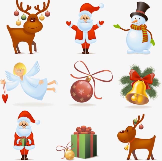 Personagens De Desenhos Animados Enfeites De Natal Elementos De