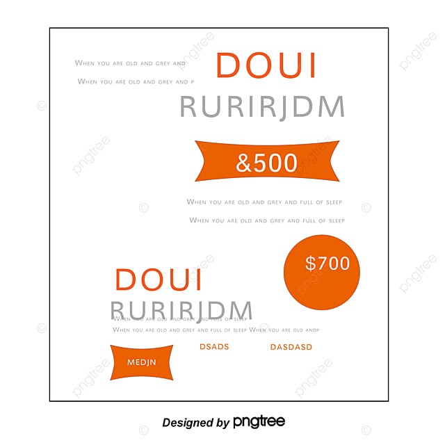 Orange Gift Certificates, Gift Vouchers, Vector PNG and Vector for ...