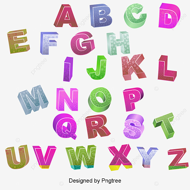 color 3d stereoscopic letter color vector letter vector