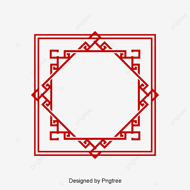 Retro Pattern Frame Gallery PNG And PSD