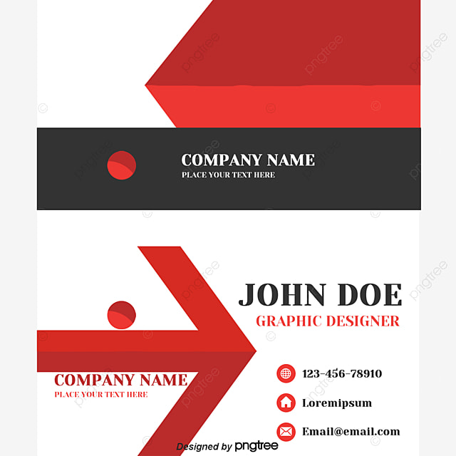 Business cards template red black flat business card design business cards template red black flat business card design personal business card template reheart Gallery