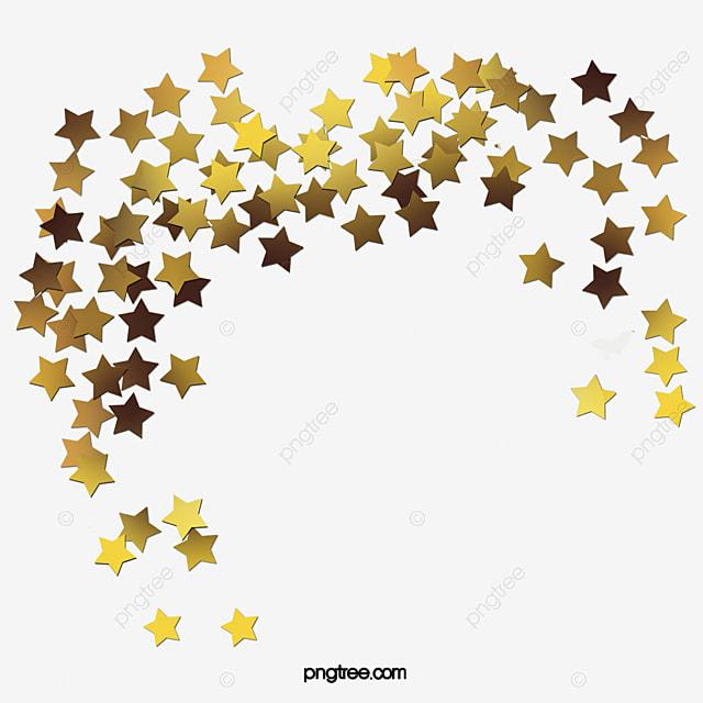 Estrellas de oro Estrella De Cinco Puntas Sombreado De Estrellas