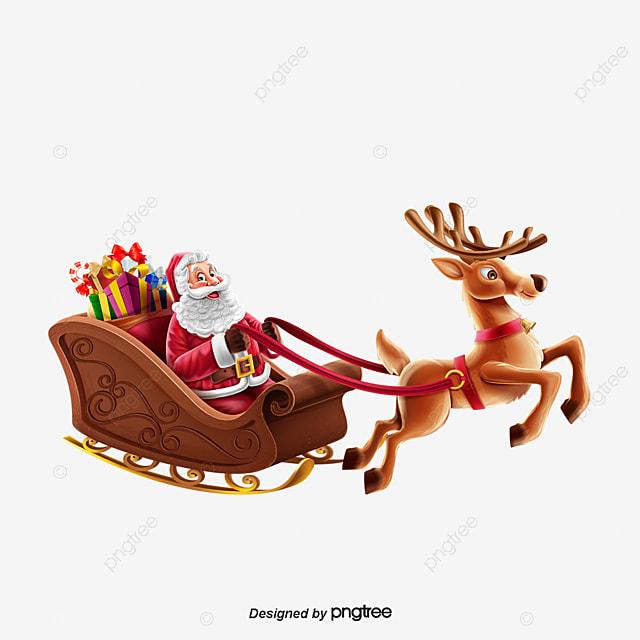 christmas reindeer and santa claus santa claus christmas reindeer