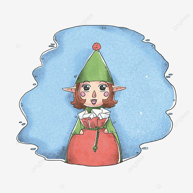 Christmas Elf Cartoon Elf Christmas Png Transparent