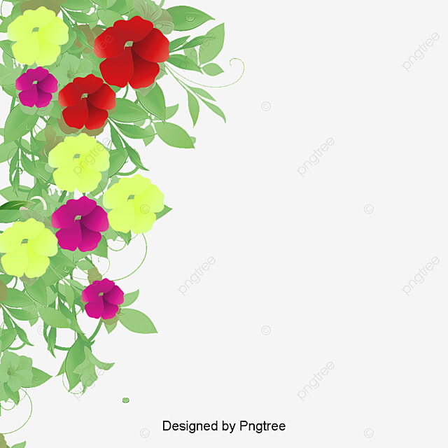 Flower Border Flower Flora Pink Png And Vector For Free