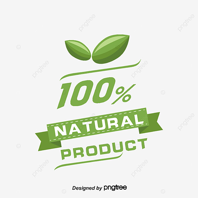 vector natural hundred percent natural product png and vector for