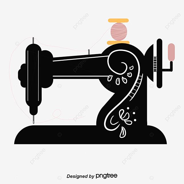 black sewing machine  hand painted  cartoon  black png scissors clip art dotted line scissors clip art color