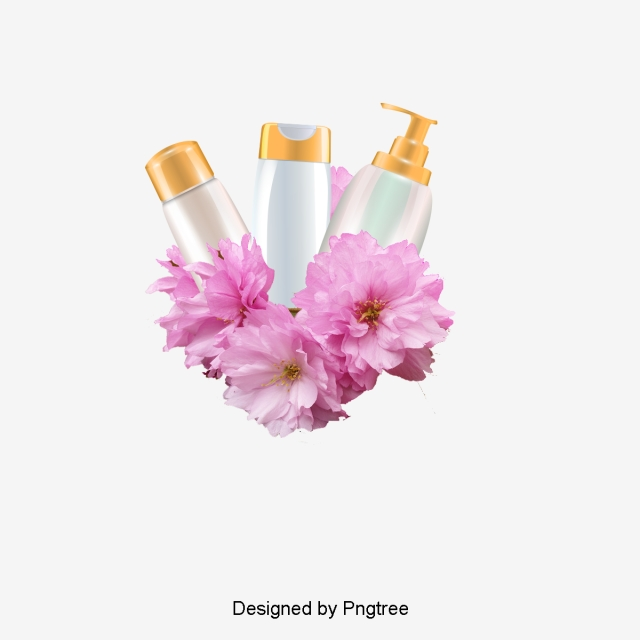 Sakura Cosmetics, Product Kind, Cherry Blossoms, Cosmetic PNG and PSD