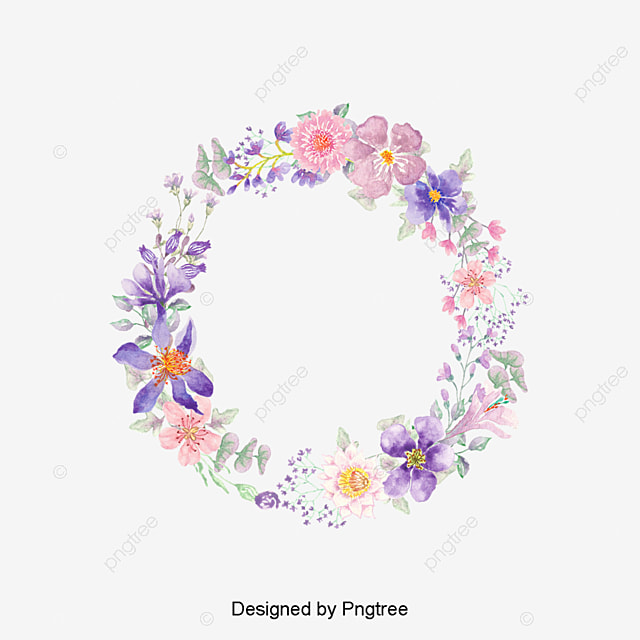 color flower wreath fleur des objets graphiques les fleurs