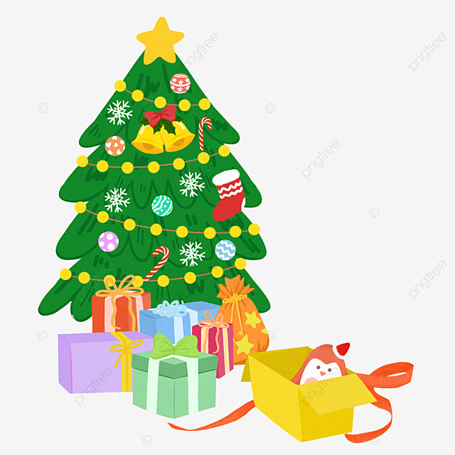 Green Christmas Tree Gifts, Tree Clipart, Green, Christmas Gifts PNG ...