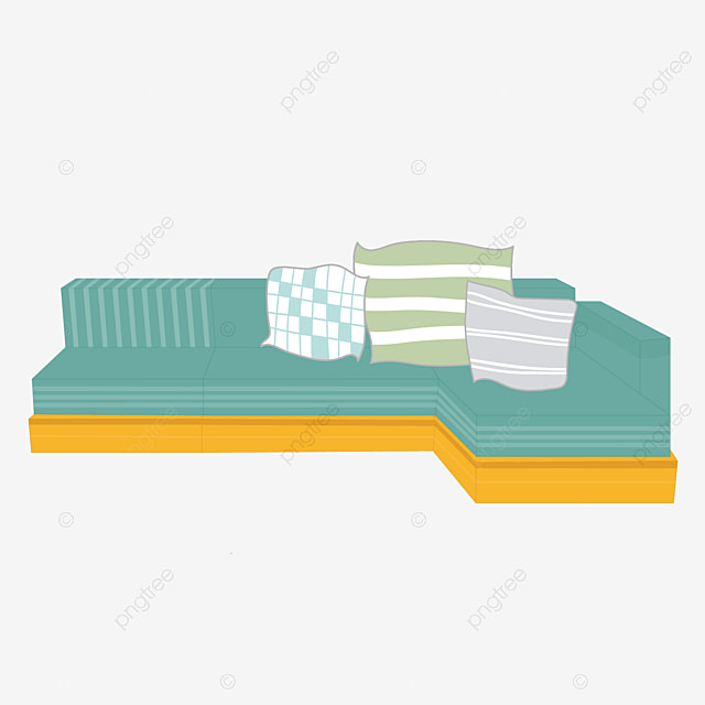 Green Sofa, Couch, Sofa, Queen Sofa PNG Image And Clipart