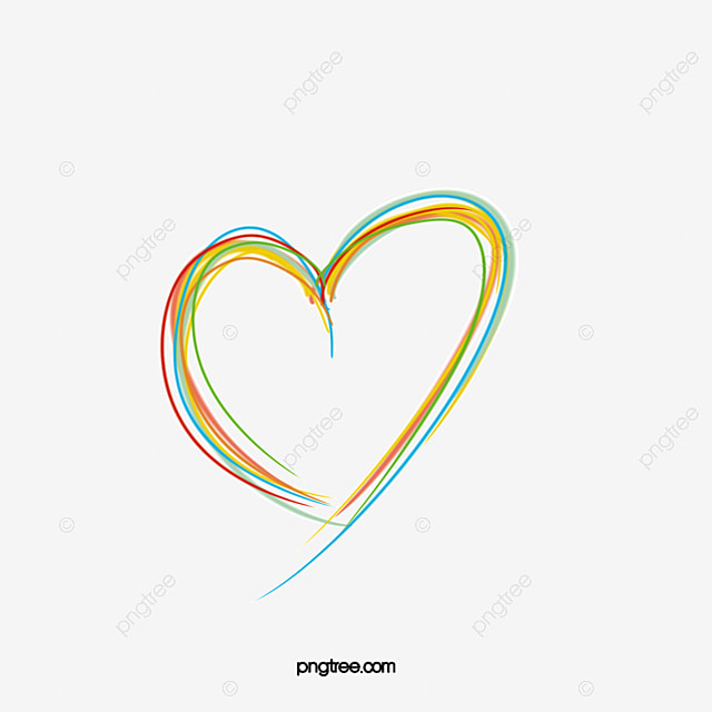 multicolored heart heart clipart ribbon made rainbow heart png